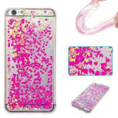 Full Pink Little Love All Soft Tpu Quicksand Phone Case for Iphone 6S Plus 6 Plus