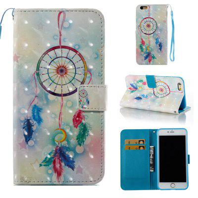 Feather Wind Chimes 3D Painted Pu Phone Case for Iphone 6S Plus 6 Plus