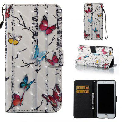 Butterflies 3D Painted Pu Phone Case for Iphone 6S Plus 6 Plus