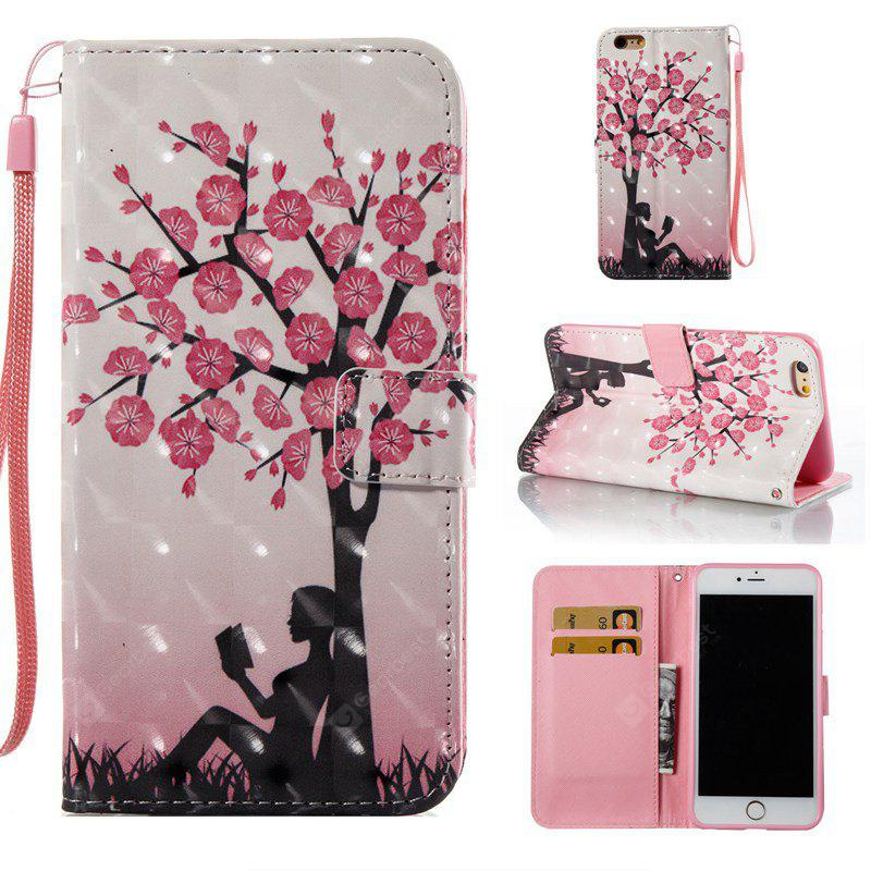 Plum Tree Girl 3D Painted Pu Phone Case for Iphone 6S Plus 6 Plus