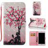 Plum Tree Girl 3D Painted Pu Phone Case for Iphone 6S Plus 6 Plus - COLORMIX