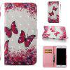 Rose Butterfly 3D Painted Pu Phone Case for Iphone 6S Plus 6 Plus - COLORMIX