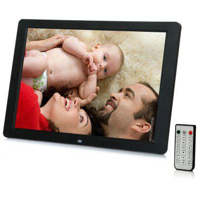 12.1 Inch LED Backlight HD 1280 x 800 Digital Photo Frame Electronic Album MP3 MP4 Full Function - BLACK