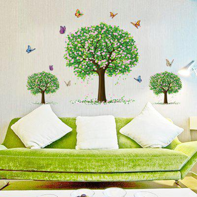 Buy 3 Tree Butterfly Sticker Home Decor Room Living Room Wallpaper, MIX COLOR, Home & Garden, Home Decors, Wall Art, Wall Stickers for $6.23 in GearBest store