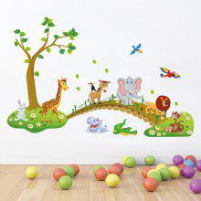 Forest Animals Wall Stickers Cartoon for Kids Rooms Decor Bedroom