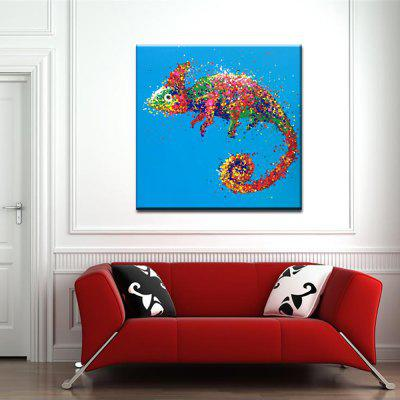 YHHP Hand Painted Abstract Chameleon Decoration Canvas Oil Painting