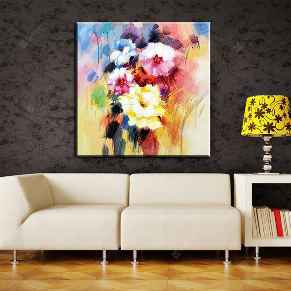 YHHP Hand Painted Abstract Flowers Decoration Canvas Oil Painting