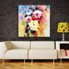 YHHP Hand Painted Abstract Flowers Decoration Canvas Oil Painting - COLORMIX