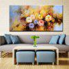 YHHP Hand Painted Abstract Peony Flowers Decoration Canvas Oil Painting - COLORMIX