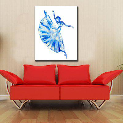 YHHP Abstract Art Hand Painted Dancing Oil Painting Decoration Gift