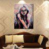 YHHP Hand Painted Abstract Art Young Girl Picture Decoration Canvas Oil Painting - COLORMIX