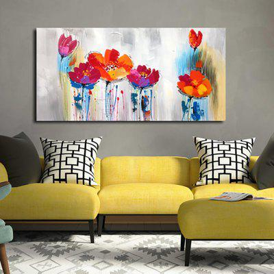 YHHP Hand Painted Abstract Art Flowers Decoration Canvas Oil Painting