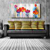 YHHP Hand Painted Abstract Art Flowers Decoration Canvas Oil Painting - COLORMIX