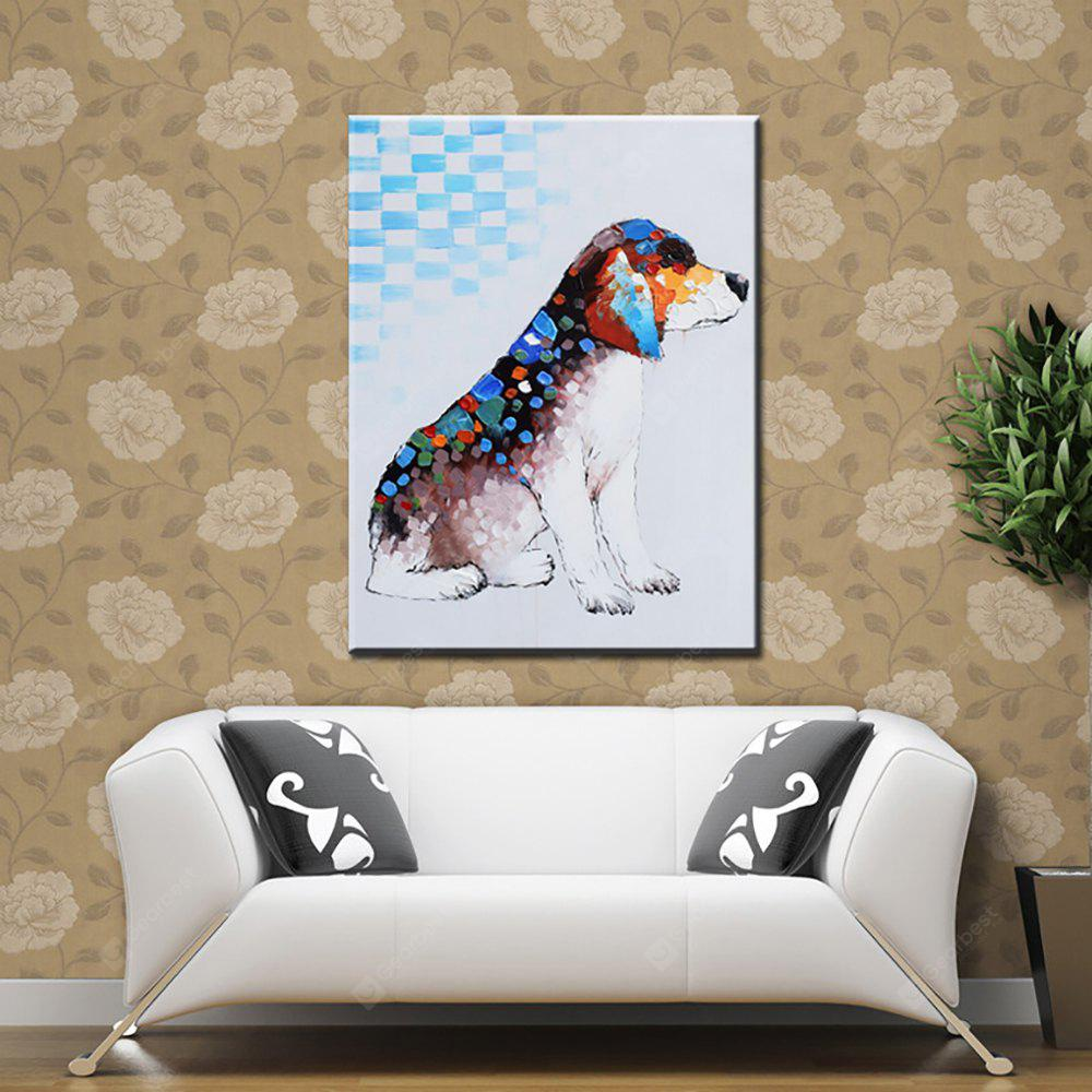 YHHP Hand Painted Abstracta Art dog Decoration Canvas Oil Painting