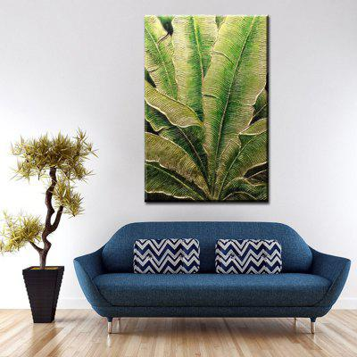 YHHP Hand Painted Abstract Art Leaves Decoration Canvas Oil Painting