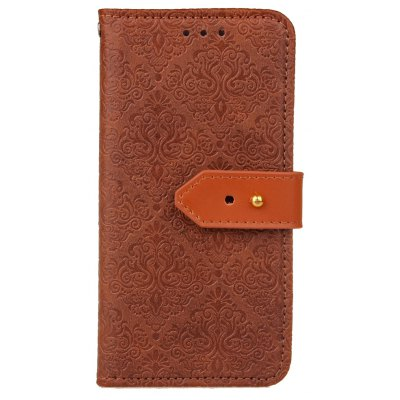 Buy DEEP BROWN Yc European Style Card Lanyard Pu Leather for iPhone X for $4.21 in GearBest store