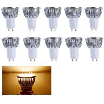 Buy WARM WHITE LIGHT Supli 10 Pcs 5W Gu10 Led Spotlight 4 Cob 500 Lm Warm White / Cool White Dimmable Ac 220 240 for $24.24 in GearBest store