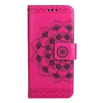Wkae Embossed Flowers Pattern Pu Leather Flip Stand Case Cover with Card Slots for Iphone 7
