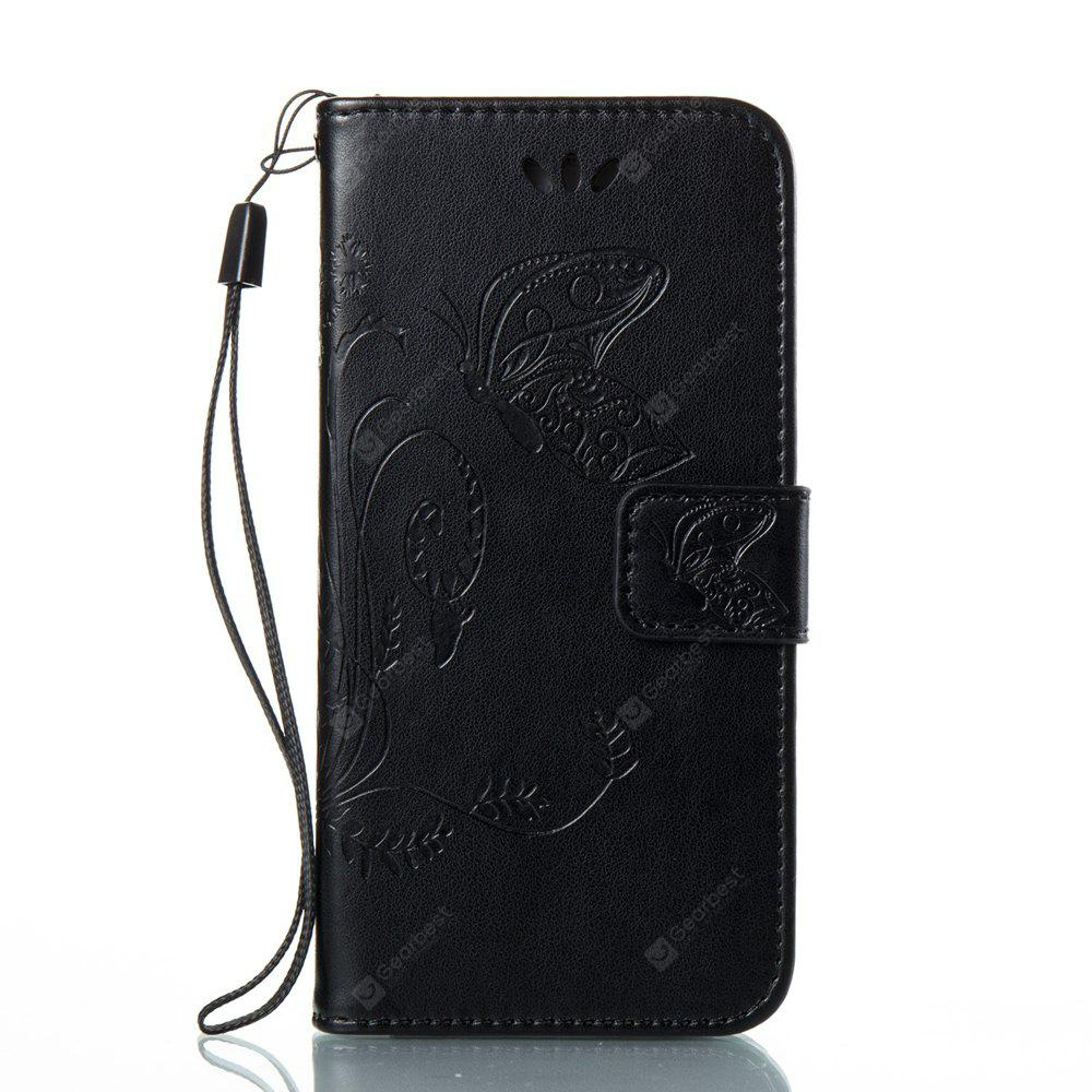 Wkae Flowers Embossing Pattern PU Leather Flip Stand Case Cover for Samsung Galaxy A3 2017