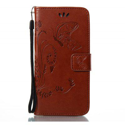 Buy DEEP BROWN Wkae Flowers Embossing Pattern PU Leather Flip Stand Case Cover for Samsung Galaxy A5 2017 for $5.78 in GearBest store