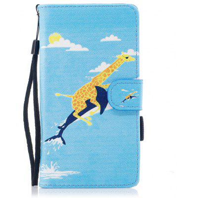 Color Pattern Flip PU Leather Wallet Case with Sling for Wiko Lenny 3
