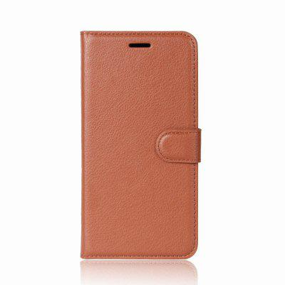 Buy BROWN Solid Color Litchi Pattern Wallet Style Front Buckle Flip PU Leather Case with Card Slots for Wiko Tommy 2 for $4.59 in GearBest store