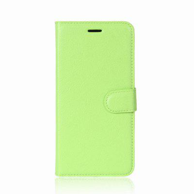 Buy GREEN Solid Color Litchi Pattern Wallet Style Front Buckle Flip PU Leather Case with Card Slots for Wiko Tommy 2 for $4.59 in GearBest store