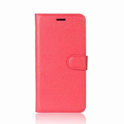 Buy RED Solid Color Litchi Pattern Wallet Style Front Buckle Flip PU Leather Case with Card Slots for Wiko Tommy 2 for $4.59 in GearBest store