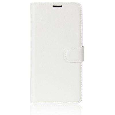 Buy WHITE Solid Color Litchi Pattern Wallet Style Front Buckle Flip PU Leather Case with Card Slots for Wiko Tommy 2 for $4.59 in GearBest store
