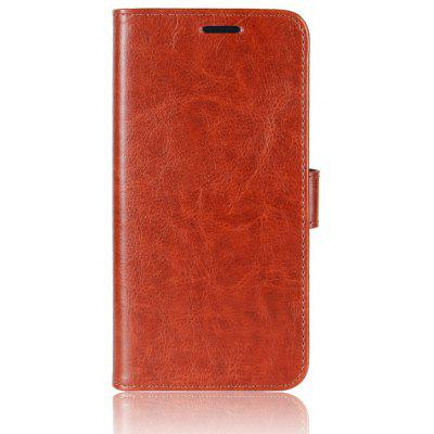 Durable Crazy Horse Pattern Back Buckle Flip PU Leather Wallet Case for Blackview A7