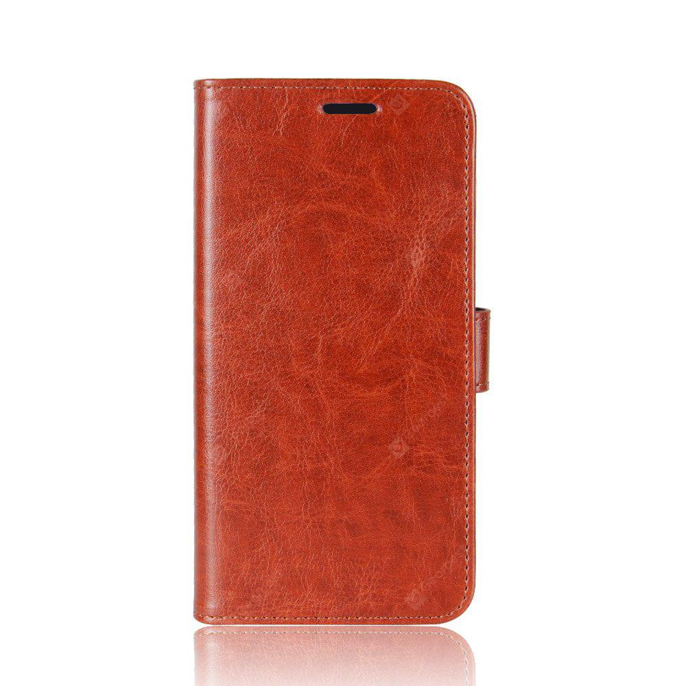 Durable Crazy Horse Pattern Back Buckle Flip PU Leather Wallet Case para Meizu M6 Note