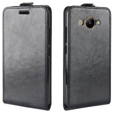 Buy BLACK Durable Crazy Horse Pattern Up and Down Style Flip Buckle PU Leather Case for Huawei Y3 2017 for $4.39 in GearBest store
