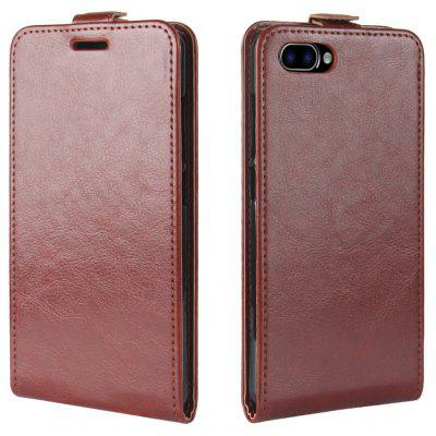 Durable Crazy Horse Pattern Up and Down Style Flip Buckle PU Leather Case for Cubot Rainbow 2