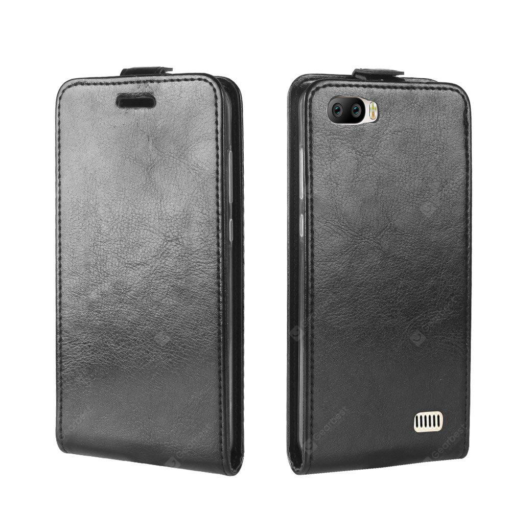 Durable Crazy Horse Pattern Up and Down Style Flip Buckle PU Leather Case for Blackview A7
