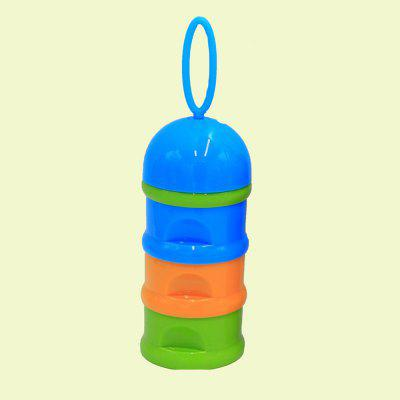 Baby Milk Powder Storage Three Layered Colorful Multi Functional Baby Product