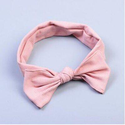 Buy PINK Headband 1 Piece Bow Pattern Elastic Girls Hair Accessory for $7.33 in GearBest store