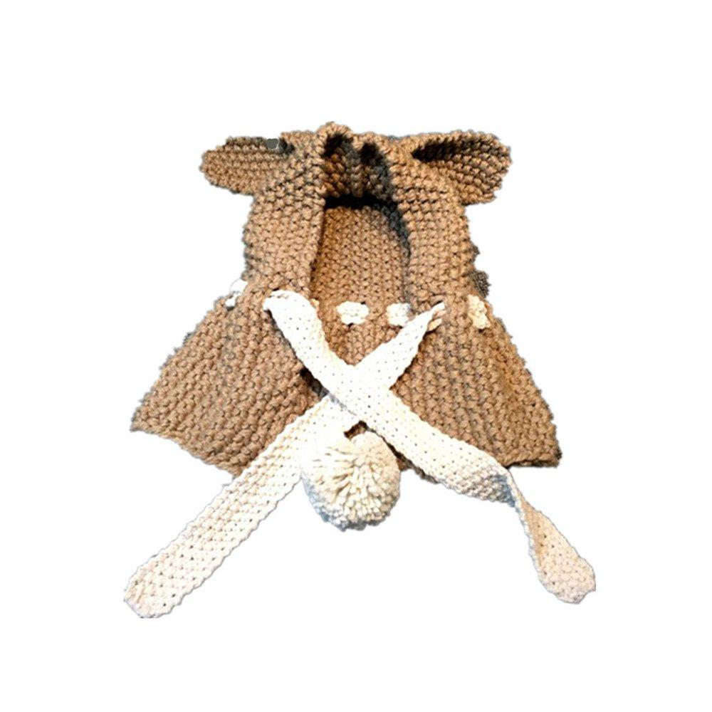 Baby Hooded Cape Cute Rabbit Eras Knitted Mini Baby Poncho