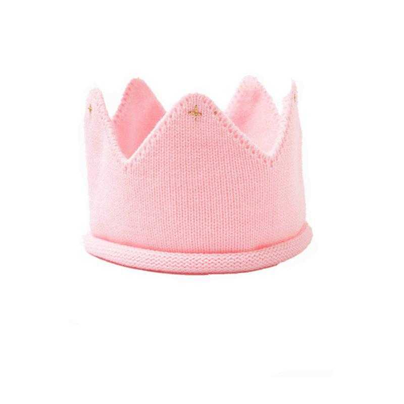 Babys Crown Shaped Hat Cute Knitted Baby Hat