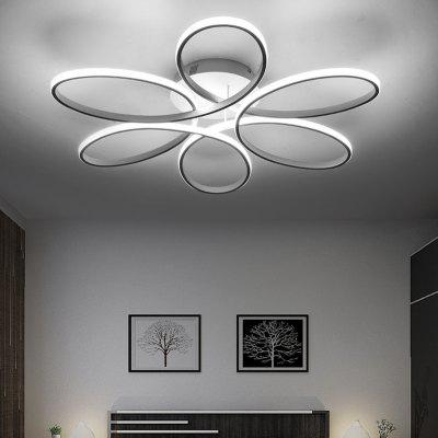 EverFlower Modern Simple Floral Shape LED Semi Flush Mount Ceiling Light With Max 75W Painted FinishFlush Ceiling Lights<br>EverFlower Modern Simple Floral Shape LED Semi Flush Mount Ceiling Light With Max 75W Painted Finish<br><br>Battery Included: No<br>Bulb Base: LED Integrated<br>Bulb Included: Yes<br>Chain / Cord Adjustable or Not: Chain / Cord Not Adjustable<br>Features: Bulb Included, Designers<br>Finish: White<br>Fixture Height ( CM ): 11<br>Fixture Length ( CM ): 58<br>Fixture Material: Aluminum<br>Fixture Width ( CM ): 58<br>Light Direction: Ambient Light<br>Light Source Color: Warm White,Cold White<br>Package Contents: 1 x Lamp Body, 1 x Fittings Bag<br>Package size (L x W x H): 65.00 x 65.00 x 16.00 cm / 25.59 x 25.59 x 6.3 inches<br>Package weight: 3.2000 kg<br>Product size (L x W x H): 58.00 x 58.00 x 11.00 cm / 22.83 x 22.83 x 4.33 inches<br>Shade Material: Silicone<br>Style: Chic &amp; Modern, Modern/Contemporary, LED<br>Suggested Room Size: 15 - 20?<br>Suggested Space Fit: Living Room,Bedroom,Dining Room,Cafes,Indoors<br>Type: Flush Mount<br>Voltage ( V ): AC220 - 240,AC110 - 130<br>Wattage per Bulb ( W ): 75