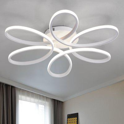 Everflower modern simple floral shape led semi flush mount ceiling everflower modern simple floral shape led semi flush mount ceiling light with max 75w painted finishac aloadofball Image collections
