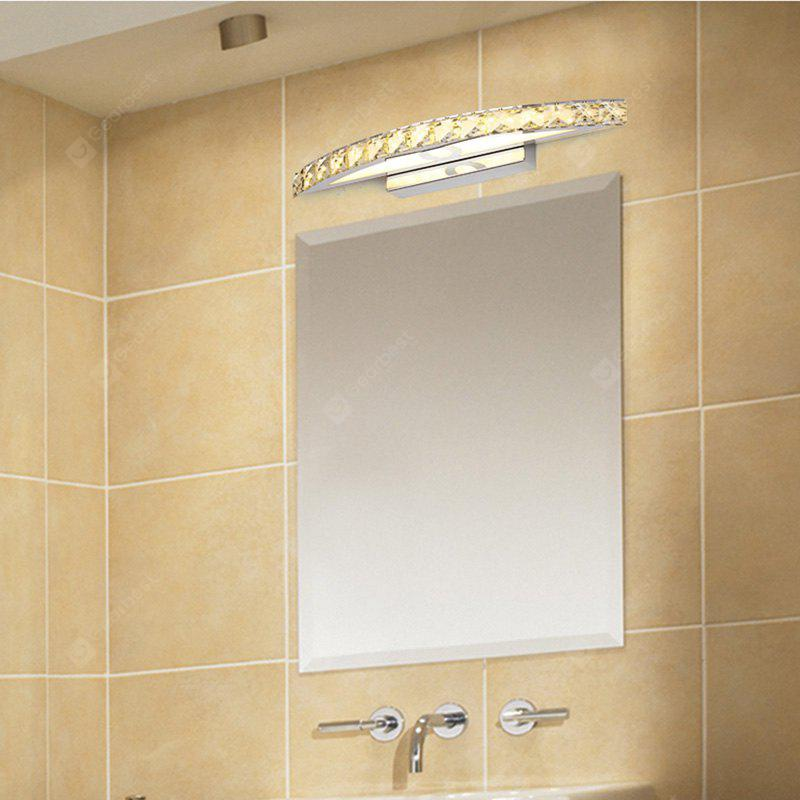 WARM WHITE LIGHT Everflower Max 10W Stainless Steel And Crystal Modern Fashion Led Wall Sconces Mirror Front Light Model 6030