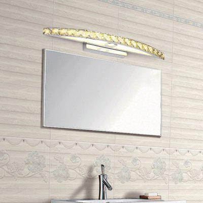 Everflower Max 18W Stainless Steel And Crystal Modern Fashion Led Wall Sconces Mirror Front Light Model 6030