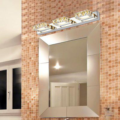 Everflower Max 9W Stainless Steel And Crystal Modern Fashion Led Wall Sconces Mirror Front Light Model 5980