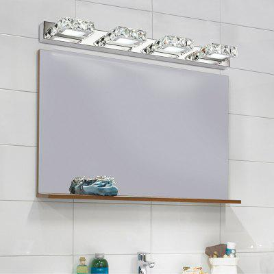 Buy WHITE LIGHT Everflower Max 12W Stainless Steel And Crystal Modern Fashion Led Wall Sconces Mirror Front Light Model 5980 for $70.37 in GearBest store