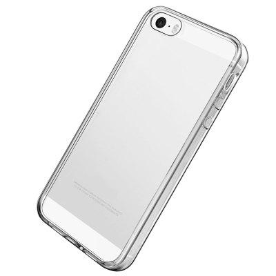 Ultrathin Shock-absorption Bumper TPU Clear Case for iPhone 5 / 5S / SEiPhone Cases/Covers<br>Ultrathin Shock-absorption Bumper TPU Clear Case for iPhone 5 / 5S / SE<br><br>Features: Anti-knock, Shatter-Resistant Case<br>Material: TPU<br>Package Contents: 1?Phone Case<br>Package size (L x W x H): 18.00 x 13.00 x 3.00 cm / 7.09 x 5.12 x 1.18 inches<br>Package weight: 0.0200 kg<br>Product size (L x W x H): 12.30 x 5.80 x 0.76 cm / 4.84 x 2.28 x 0.3 inches<br>Style: Transparent