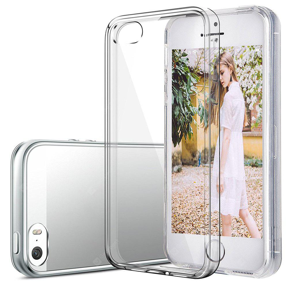 Ultrathin Shock-absorption Bumper TPU Clear Case for iPhone 5 / 5S / SE