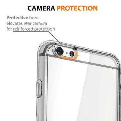 Ultrathin Shock-absorption Bumper TPU Clear Case for iPhone 6 / 6S luphie for iphone 6s 6 tpu metal bumper hybrid back case grey