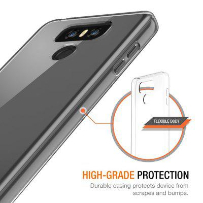 Ultrathin Shock-absorption Bumper TPU Clear Case for LG G6Cases &amp; Leather<br>Ultrathin Shock-absorption Bumper TPU Clear Case for LG G6<br><br>Package Contents: 1 x Phone Case<br>Package size (L x W x H): 18.00 x 13.00 x 3.00 cm / 7.09 x 5.12 x 1.18 inches<br>Package weight: 0.0200 kg<br>Style: Transparent