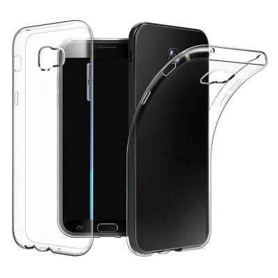 Ultrathin Shock-absorption Bumper TPU Clear Case for Samsung Galaxy A5 2017Samsung A Series<br>Ultrathin Shock-absorption Bumper TPU Clear Case for Samsung Galaxy A5 2017<br><br>Features: Anti-knock<br>Material: TPU<br>Package Contents: 1 x Phone Case<br>Package size (L x W x H): 18.00 x 13.00 x 3.00 cm / 7.09 x 5.12 x 1.18 inches<br>Package weight: 0.0200 kg<br>Style: Transparent
