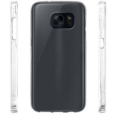 Ultrathin Shock-absorption Bumper TPU Clear Case for Samsung Galaxy S7 EdgeSamsung S Series<br>Ultrathin Shock-absorption Bumper TPU Clear Case for Samsung Galaxy S7 Edge<br><br>Features: Anti-knock<br>Material: TPU<br>Package Contents: 1 x Phone Case<br>Package size (L x W x H): 18.00 x 13.00 x 3.00 cm / 7.09 x 5.12 x 1.18 inches<br>Package weight: 0.0200 kg<br>Style: Transparent